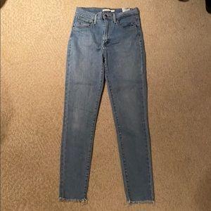 Levi's Mile High Super Skinny Jeans Light Wash 28